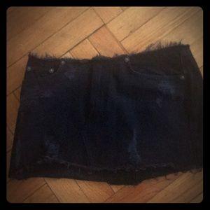LF black denim mini skirt NWT SZ 28